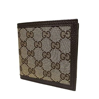 2ccbcd44b9e6 Amazon | グッチ GUCCI 150413 GGキャンバス 二つ折り財布(小銭入れ有り ...