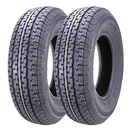 Set of 2 New Grand Ride Trailer Tires ST 205/75R15 8PR Load Range - Tires Rims 15 With
