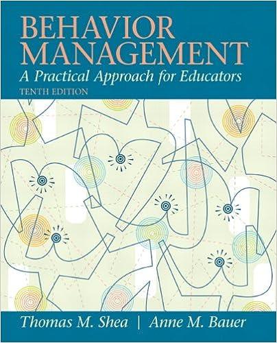 Behavior Management: A Practical Approach for Educators (10th ...