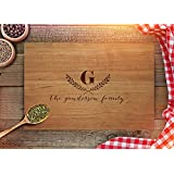 Personalized Cutting Board Wedding Gifts by Froolu Engraved On Real Wood Chopping Boards FREE ENGRAVING Cherry 9x12 CB206
