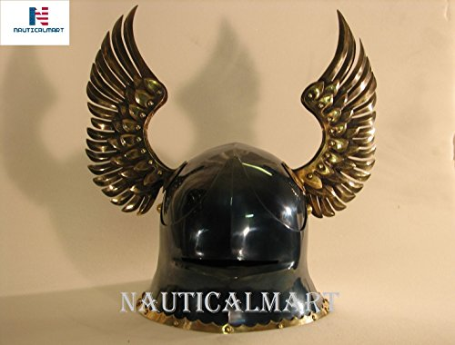 NAUTICALMART Medieval German Sallet Helmet European Close Helmet With Metal Horns