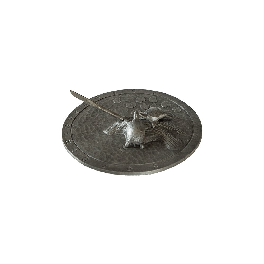 Montague Metal Products Turtle Sundial, Swedish Iron