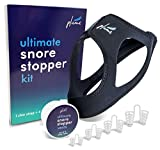 Snoring Solution - 2 in 1 Bundle - Anti Snoring Chin Strap + Set of 4 Snore Stopper Nose Vents - Safe & Reusable - Nasal Dilator - EBOOK Included (by Plume Health)