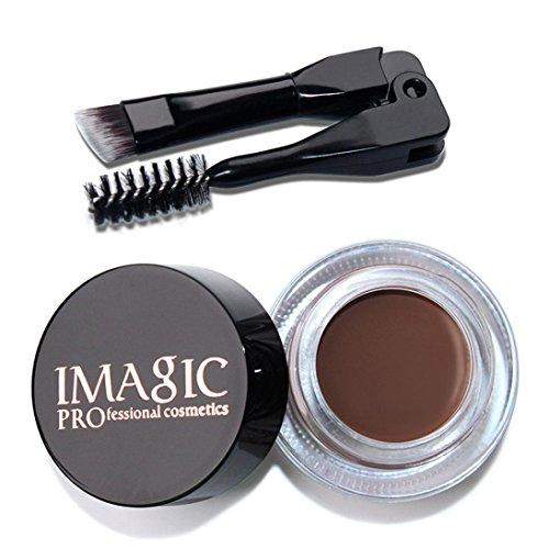YJYdada Eyebrow Enhancers Waterproof Long Lasting Eyebrow Gel Cream Makeup + Brush (D)