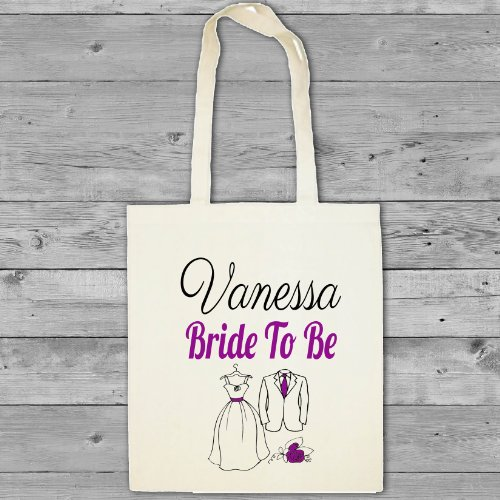 bag gift bride Personalised bridesmaid wedding tote long dress design flowergirl cotton bag shopper handle gFSnvx