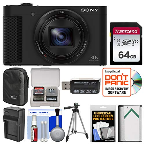 Sony Cyber-Shot DSC-HX80 Wi-Fi Digital Camera with 64GB Card + Case + Battery & Charger + Tripod + Kit ()