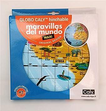 DIDACMANIA Globo Hinchable Maravillas del Mundo: Amazon.es ...