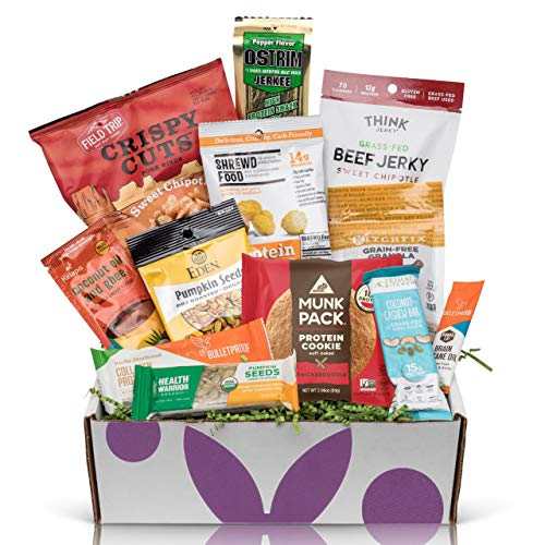 Healthy Halloween Snacks For Work (High Protein Sampler Snack Box: Healthy Fitness Workout Care Package, Pefect High Protein Healthy Gifts For Men, Military Food Packages, Workout Food Man Care)