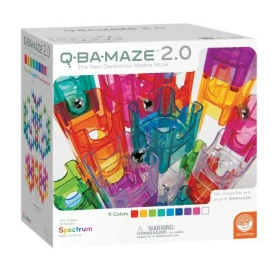 Q-BA-MAZE 2.0 Spectrum Color Set - The Next Generation Marble Maze - 120 Cubes, 30 Marbles - Ages 6 and Up from MindWare
