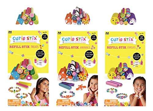 Cutie Stix Cut and Create Station Refill Packs - Animals, Treats & Emojis Sets