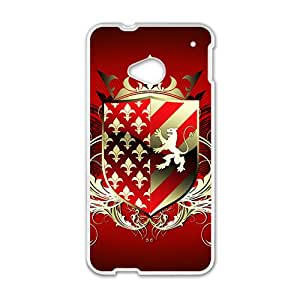 Red Shield Badge Custom Protective Hard Phone Cae For HTC One M7