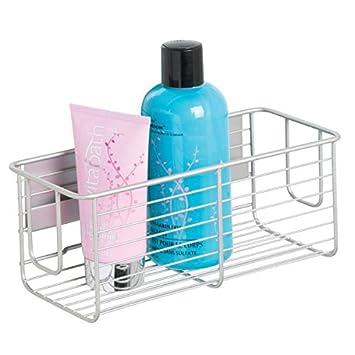MetroDecor mDesign Cesta para Ducha - Práctica estantería de baño sin  Tornillos - Ideal Organizador de baño en Aluminio para Sus artículos de  Ducha con un ... 4e2663d3f973