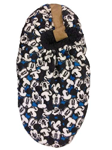 Mickey Mouse Mens Fuzzy Babba Slipper Socks (M/L