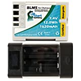 Olympus E-30 Battery with Universal Charger- Replacement Olympus BLM5 Digital Camera Battery (1620mAh, 7.4V,, Lithium-Ion)