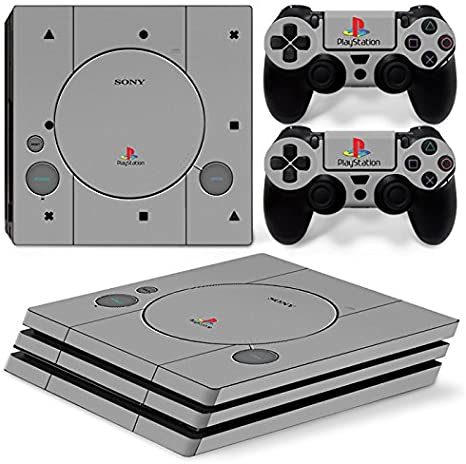 Sony PS4 Playstation 4 Pro Skin Design Foils Pegatina Set - Retro PSOne 2 Motivo: Amazon.es: Videojuegos