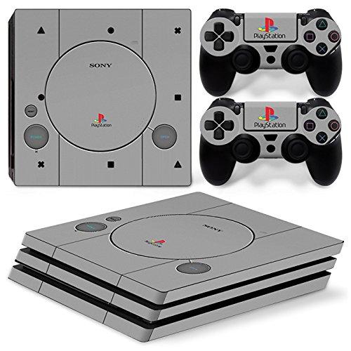 CSBC Skins Sony PS4 Pro Design Foils Faceplate Set - Retro PSOne 2 Design