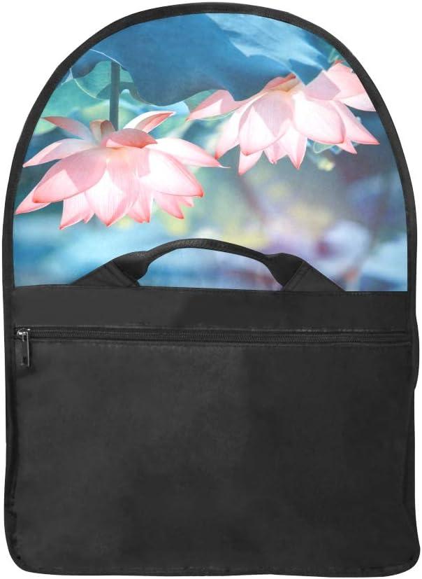 Crossbody Shoulder Bag Beautiful Blooming Lotus Multi-Functional Laptop Bags Fit for 15 Inch Computer Notebook MacBook