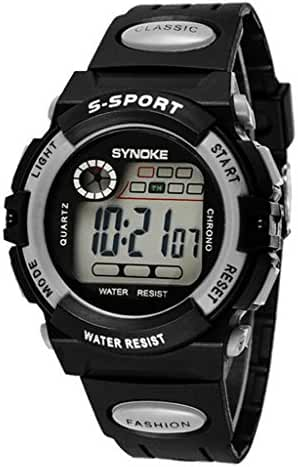 Boys Summer Multi Function Outdoor Waterproof Digital Sports Wrist Watches For Age 5-13 years old Grey