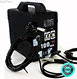 SKEMiDEX---Mig-100 Flux Core Welding Machine No Gas Welder + Face Mask 110V Cooling Fan. Perfect welding performance, ideal for welding mild steel and stainless steel