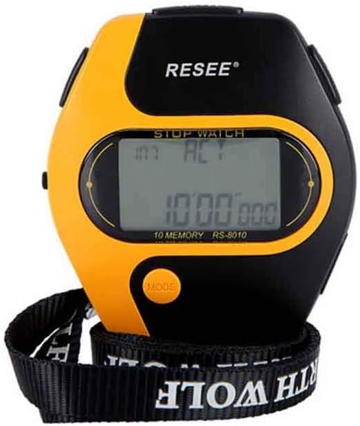HENGXIANG ストップウォッチ、トレーニング運動フィットネスミリ秒コーチ専用ストップウォッチ、オレンジ