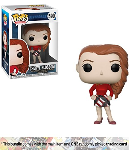 Cheryl Blossom: Funko POP! TV x Riverdale Vinyl Figure + 1 American TV Themed Trading Card Bundle [#590]