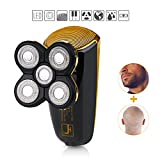 #10: Wet Dry Men's Shaver Trimmer Grooming Kit,Professional Cordless Electric Waterproof Razor Rotary Shaver Trimmer Grooming Kit for Man with 5 floating head,fast USB Recharge Shavers for Travel Or Home