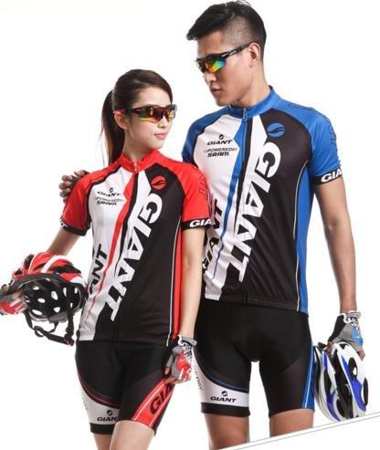 しわスイス人悩みGIANT COOL MAX サイクルウェア ジャージ 自転車ウェア サイクリングウェア ブルー 上下セット 半袖 PL保険加入商品 (七海ショップ)