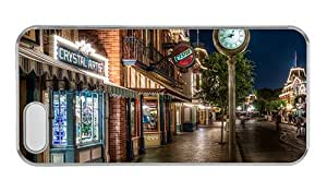 Hipster iphone 5 case thinnest disneyland main street PC Transparent for Apple iPhone 5/5S