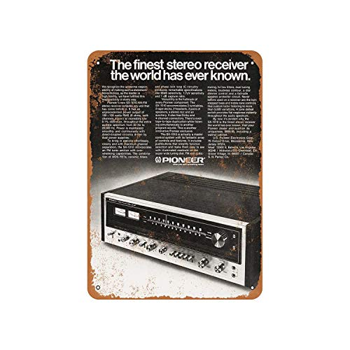Fhdang Decor Vintage Pattern 1974 Pioneer SX-1010 Stereo Receiver Vintage Look Aluminum Sign Metal Sign,8x12 Inches (Best Pioneer Sx Receiver)