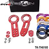 Luxbody(TM) Anodized Universal Front+Rear Tow Hook Billet Aluminum Towing Kit For JDM Racing TK-TH0185