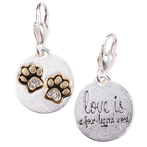 (Amanda Blu Heartfelt Emotions Silver 2-Tone Medallion - Paws, Pet)