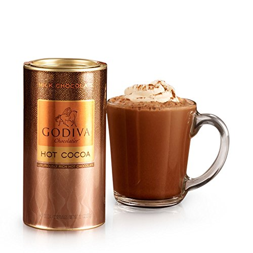 Traditional Hot Chocolate - GODIVA Chocolatier Milk Chocolate Hot Cocoa Canister 13.1oz