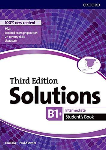 Solutions intermediate students third edition b1-b2 editado por Oxford
