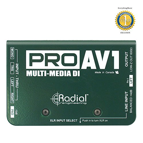 Radial Engineering R800 1112 Pro AV1 Audio/Video Passive Direct Box with 1 Year Free Extended Warranty - Passive Audio Video