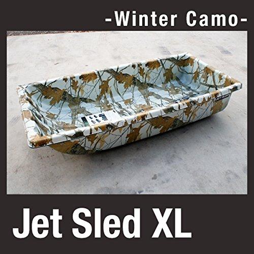 硬くて丈夫な大型ソリ Jet Sled XL (Camouflage) ジェットスレッド 白迷彩 ホワイトカモフラージュ   B01MSX746X