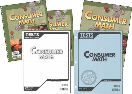 BJU Consumer Math Subject Kit--Worktext, Teacher with CD, Tests, and Test - Math Consumer Tests