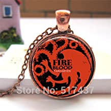 Pretty Lee Glass Dome 25Mm Fly Fire Dragon Game Of Thrones House Targaryen Glass Photo Pendant Necklace Handmade Jewelry