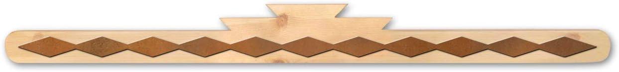Rustic Wooden Rug Hanger - Diamonds Accents (18in)