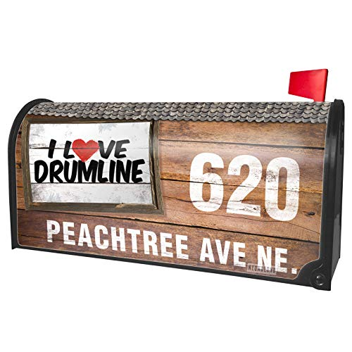 NEONBLOND Custom Mailbox Cover I Love Drumline (The Best Drumline Ever)