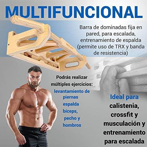 Gorilant - Barra de Dominadas Titan Pared sobre Puerta, Pulls up Bar, Múltiples agarres  Montaje Fácil   Antideslizante   hasta 130 kg