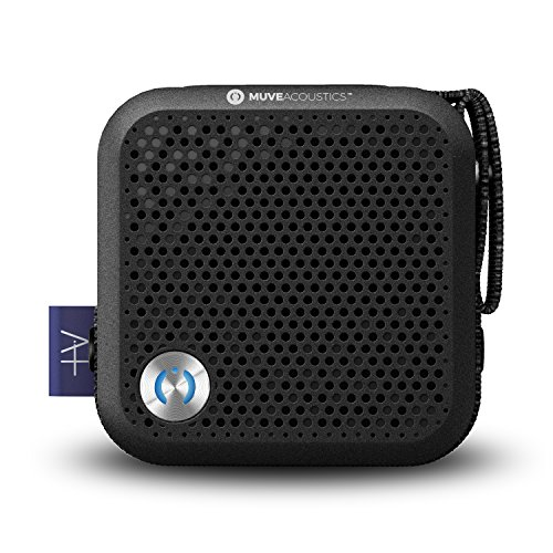 MuveAcoustics Portable Bluetooth Speaker – Loudest Wireless Stereo Sound for Home and Travel, Black