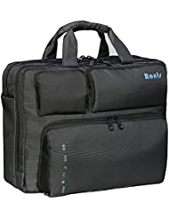 Ronts Mens Convertible Business Briefcase, 3 Way Nylon Polyester Messenger Shoulder Bags with Shockproof Sleeve...