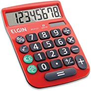 Calculadora Elgin com 8 dígitos MV-4131 Vermelha, Elgin, 42MV41310000, Vermelha