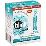 AMO Blink Tears Lubricating Eye Drops -- 25 Sterile Single-Use Vials