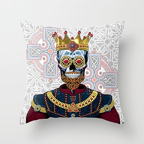 Alphadecor Skull Throw Pillow Case 18 X 18 Inches / 45 By 45 Cm Best Choice For Home Theater,kids Room,dining Room,bf,kids Room With Both (Fuzzy Dice Costume)
