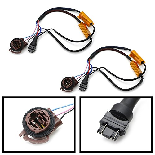iJDMTOY (2) Hyper Flash/Bulb Out Error Fix Wiring Adapters For 3157 3057 3155 3357 3457 4157 LED Bulbs Turn Signal or Tail Brake Lights