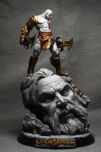 "STERLING God of War 10"" Kratos Battle Resin Statue New"