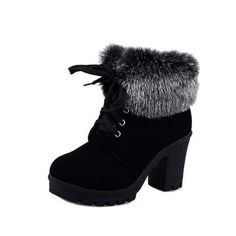 b1c7ecb3e181e Amazon.com: Eric Carl Womens's Ankle Boot Fashion Warm Chunky Heel ...
