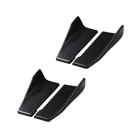 Homyl 4pcs Aletas Separador de Labios de Parachoques Traseros Alerón de Autos Accesorios