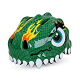 Dinosaur Green Design Bicycle Cycle Cycling Bike Helmets Protective Gear for Toddler Child Children Kids Safety Protection,Ultralight Breathable Sport Bike Helmet for Youth Boy Girl Student Pupil